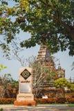 UNESCO logo nad Wat Phra Si Sanphet zdjęcie royalty free