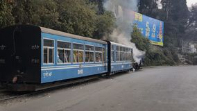 Unesco maintained one of the world heritage toy train of Darjeelin which is pulled by steam engine. Unesco maintained one world heritage toy train darjeelin stock image