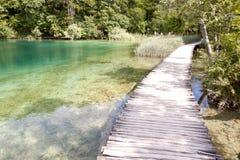 Unesco-nationalpark - Plitvice lakes. royaltyfri foto