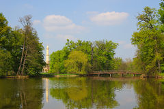 Unesco park in Lednice Stock Photos