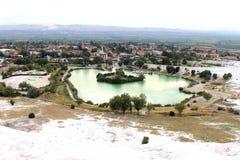 Unesco-plaatsen in Turkije, Pamukkale, het thermische kuuroord royalty-vrije stock foto's