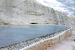 Unesco-plaatsen in Turkije, Pamukkale, het thermische kuuroord stock foto's