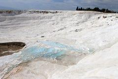 Unesco-plaatsen in Turkije, Pamukkale, het thermische kuuroord stock foto