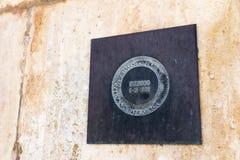 UNESCO-Plakette an Batalha-Kloster stockfotos