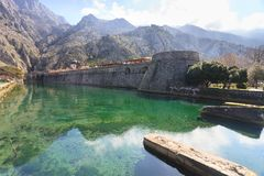 Kotor moat defence Royalty Free Stock Photo