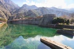Kotor moat defence Royalty Free Stock Photo