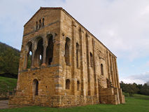 UNESCO protected Santa Maria del Naranco. The church of St Mary at Mount Naranco is a Roman Catholic Asturian pre-Romanesque Asturian architecture church on the Stock Images