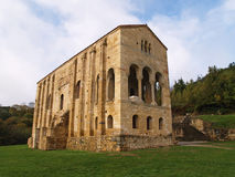 UNESCO protected Santa Maria del Naranco. The church of St Mary at Mount Naranco is a Roman Catholic Asturian pre-Romanesque Asturian architecture church on the Royalty Free Stock Image