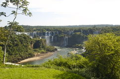 UNESCO site Iguazu Falls - Beautiful waterfalls!. Iguazu Falls is on the border of Brazil and Argentina.  It is recognized as a UNESCO World Hertiage Site for it Stock Photography