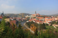 UNESCO - Stadt Cesky Krumlov Lizenzfreies Stockbild