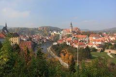 UNESCO - town Cesky Krumlov. Czech Republic - autumn in Cesky Krumlov . This is an UNESCO World Heritage site. At Autumn Royalty Free Stock Image