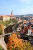 UNESCO - town Cesky Krumlov. Czech Republic - autumn in Cesky Krumlov . This is an UNESCO World Heritage site. Autumn mood Stock Photos