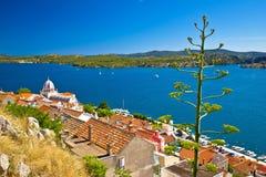 UNESCO town of Sibenik historic waterfront Stock Photos