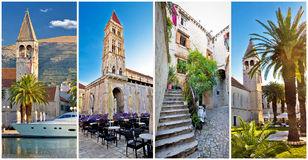 UNESCO town of Trogir architecture collage Royalty Free Stock Image