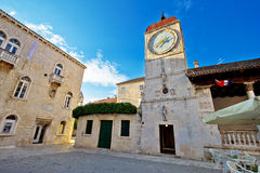 UNESCO town of Trogir square stock images