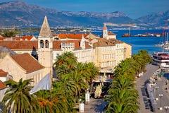 UNESCO town of Trogir waterfront view Stock Photos