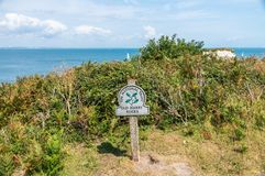 Unesco-världsarv - gamla Harry Rocks i ö av Purbeck royaltyfria bilder