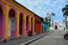 UNESCO wioska Tlacotalpan Veracruz w Meksyk obrazy stock