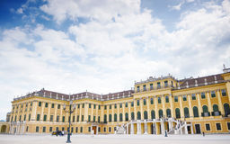 A UNESCO World Cultural Heritage, Schonbrunn Palace in Vienna(Wien) with cart, carriage, Austria Stock Images