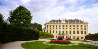 A UNESCO World Cultural Heritage, View of Crown prince privy garden in Schonbrunn Palace in Vienna(Wien), Austria. Stock Images
