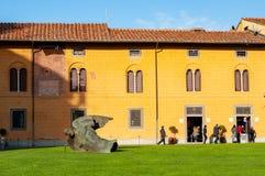 Angel fell in Piazza dei Miracoli in Pisa royalty free stock photo