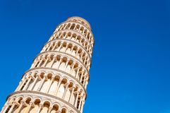 Leaning tower of Pisa in Piazza dei Miracoli stock photography