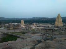 UNESCO world heritage Hampi. Virupaksha temple in hampi an architectural marvel stock photo
