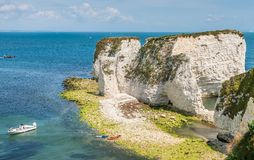 Unesco world heritage - Old Harry Rocks in Isle of Purbeck Royalty Free Stock Photo