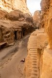 The UNESCO World Heritage site of Little Petra, in Jordan stock photo