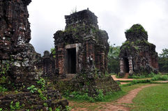 My Son Hindu Shiva Temple, Quang Nam, Vietnam. UNESCO World Heritage Site My Son Sanctuary, Vietnam stock photos