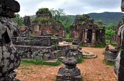 My Son Hindu Shiva Temple, Quang Nam, Vietnam. UNESCO World Heritage Site My Son Sanctuary, Vietnam royalty free stock photos