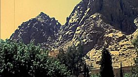 Sinai Saint Catherine Monastery walls. Unesco World Heritage Site. Saint Catherine Monastery in the Sinai Peninsula of Egypt. The monastery is Greek Orthodox stock video