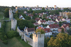 He Unesco World Heritage Site Visby citywall on Gotland In Swede Royalty Free Stock Photography