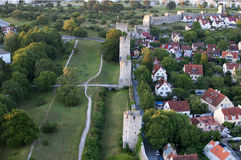 He Unesco World Heritage Site Visby citywall on Gotland In Swede Royalty Free Stock Image