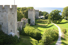 The UNESCO World Heritage Site Visby on Gotland in Sweden, Aeria Royalty Free Stock Photography
