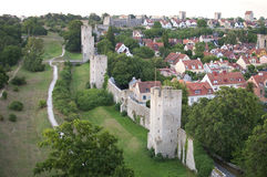 The UNESCO World Heritage Site Visby on Gotland in Sweden, Aeria Stock Image