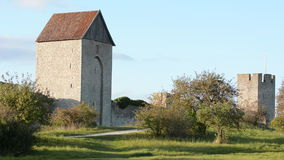 The UNESCO World Heritage Site Visby on Gotland in Sweden stock video