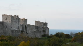 The UNESCO World Heritage Site Visby on Gotland in Sweden. Visby medieval city wall, UNESCO World Heritage Site Gotland Sweden stock video footage