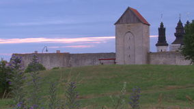 The UNESCO World Heritage Site Visby on Gotland in Sweden stock video footage