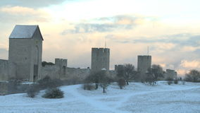 The UNESCO World Heritage Site Visby stock footage