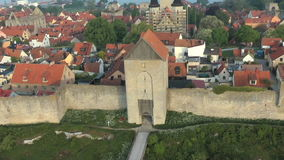 The UNESCO World Heritage Site Visby in Sweden, aerial footage Stock Photo