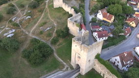 The UNESCO World Heritage Site Visby in Sweden, aerial footage Royalty Free Stock Images
