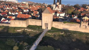 The UNESCO World Heritage Site Visby in Sweden, aerial footage Royalty Free Stock Image