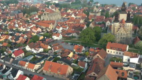 The UNESCO World Heritage Site Visby in Sweden, aerial footage Stock Photography