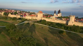 The UNESCO World Heritage Site Visby in Sweden, aerial Royalty Free Stock Images