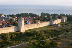 The UNESCO World Heritage Site Visby in Sweden, aerial Stock Images