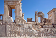 UNESCO World Heritage Site, walls of city Persepolis, Iran. Royalty Free Stock Images