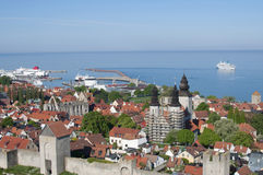 Unesco world heritage Visby in Sweden Royalty Free Stock Photo