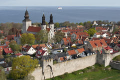 Unesco world heritage Visby in Sweden Stock Photo