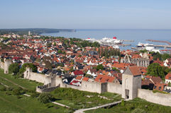 Unesco world heritage Visby in Sweden Royalty Free Stock Images